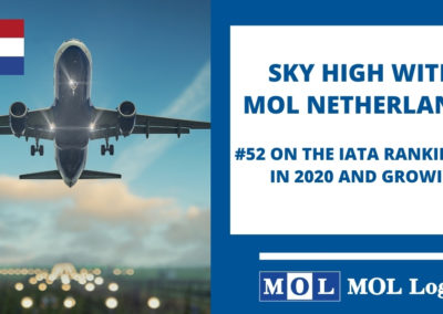 MOL Logistics NL is proud to announce that we have reached a higher ranking on the yearly IATA list top 100